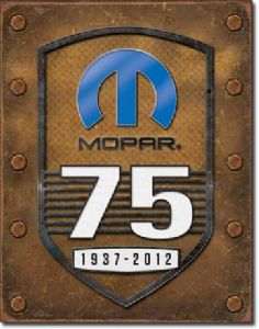 Mopar 75th Anniversary metal sign  (de)